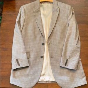 Express grey 40R three piece suit